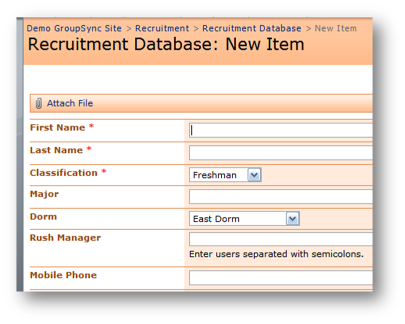 Recruitment Database
